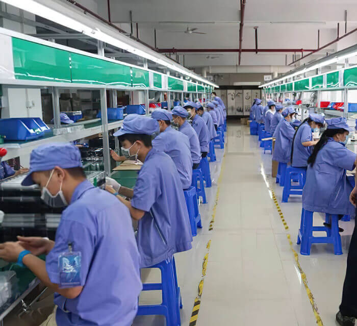 Visit the electric toothbrush production line