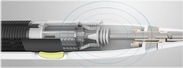 Internal structure of electric toothbrush